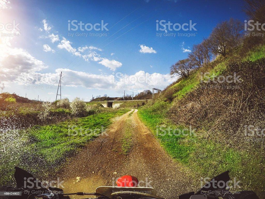 Enduro Motocross motorbike racing offroad stock photo