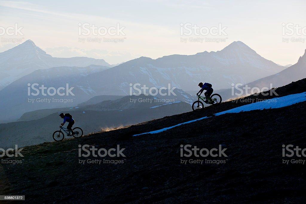 Enduro Mountain Biking stock photo