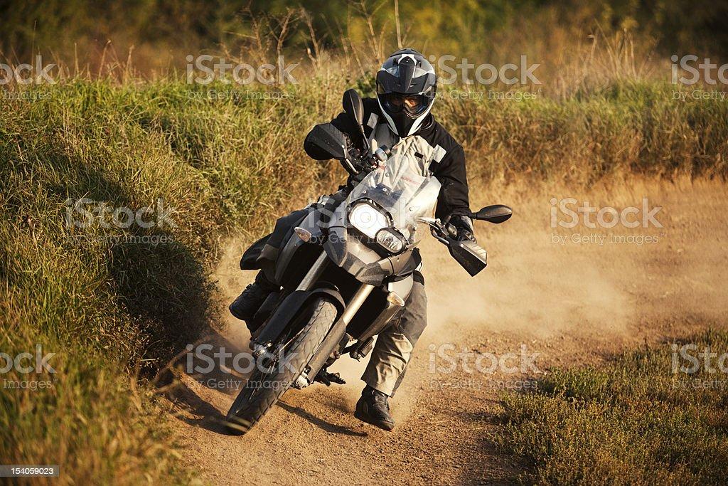Enduro rider royalty-free stock photo