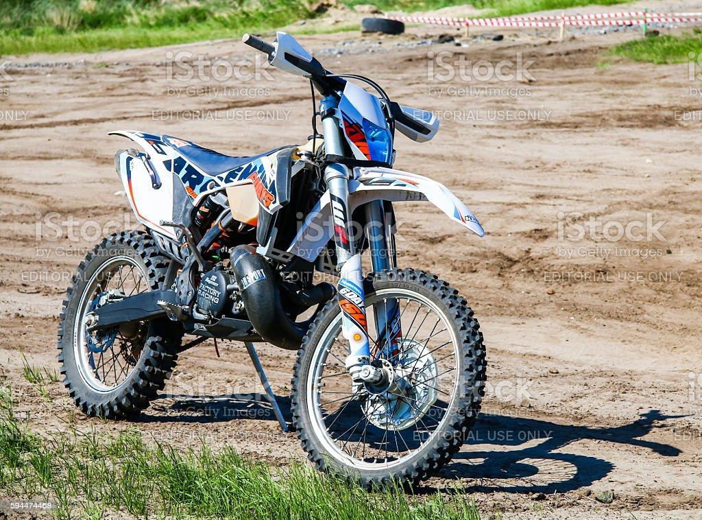 Endurocross bike KTM stock photo
