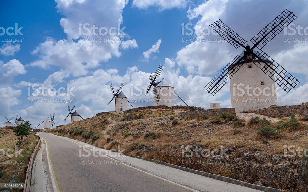Enemies of Don Quixote stock photo