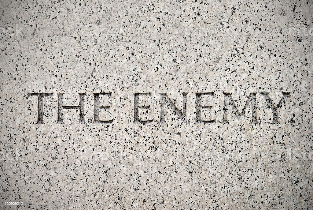 Enemy in Granite royalty-free stock photo