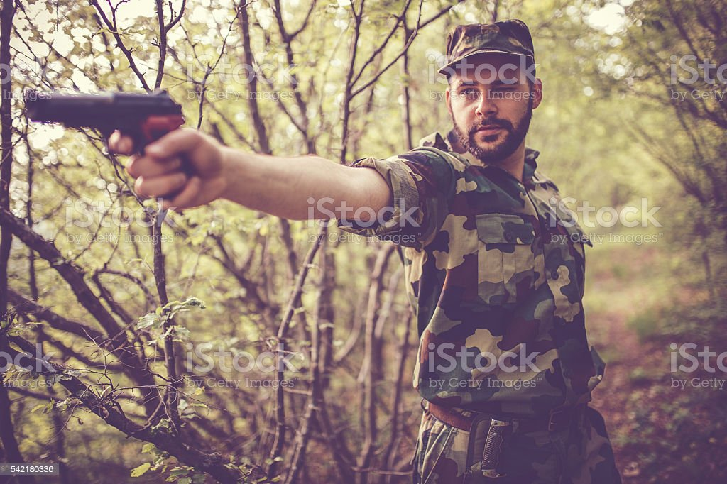 Enemy is near stock photo