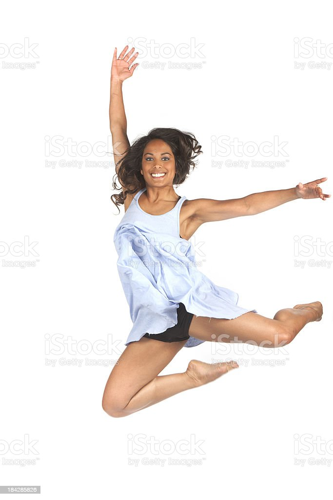 energetic jump royalty-free stock photo