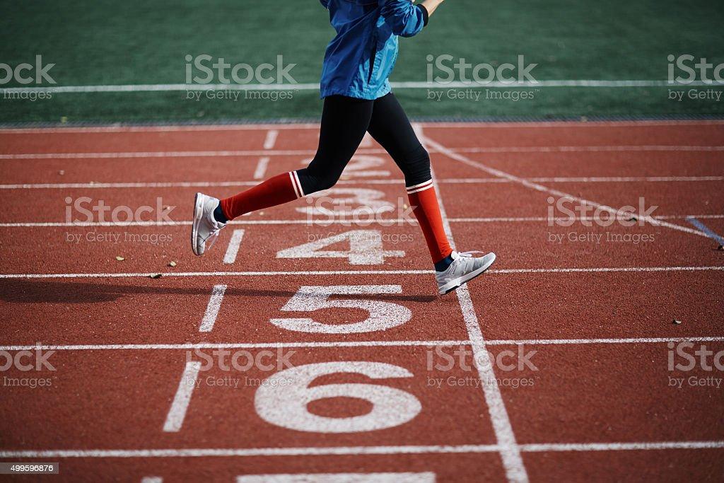 Energetic run stock photo