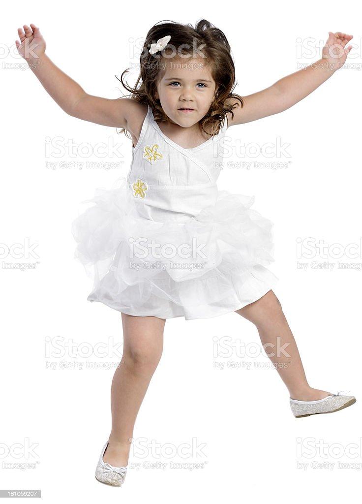 energic girl royalty-free stock photo