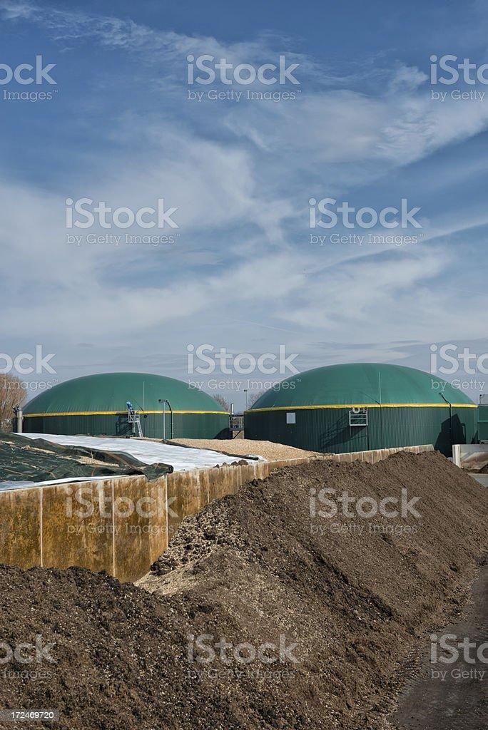 Energiewende, Bioenergie, Biogas energy, Germany royalty-free stock photo