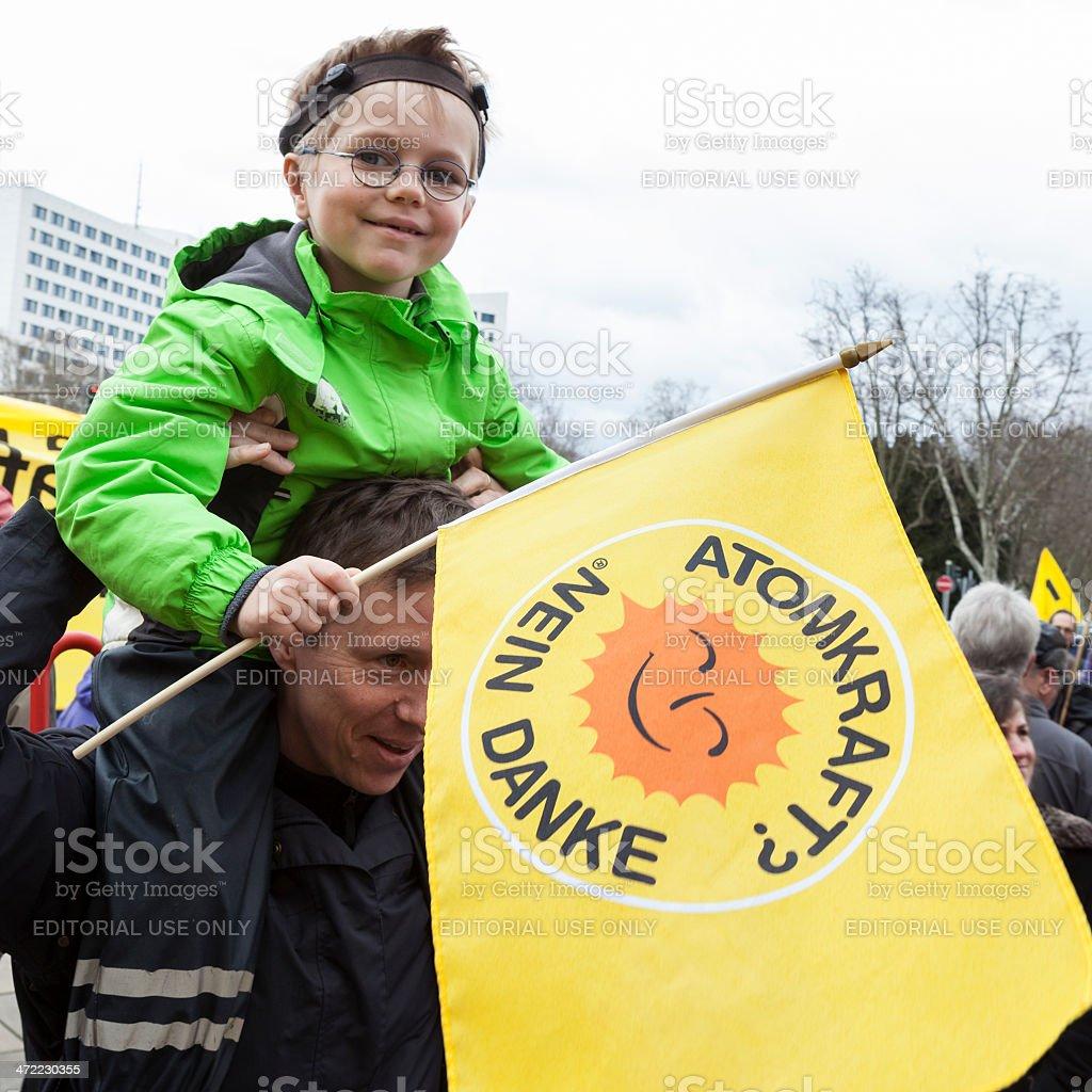Energiewende retten - demonstration in Wiesbaden, Germany royalty-free stock photo