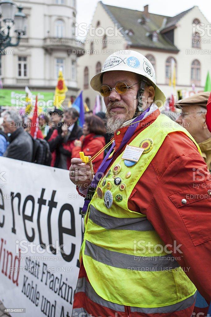 Energiewende retten. Demonstration in Wiesbaden, Germany royalty-free stock photo