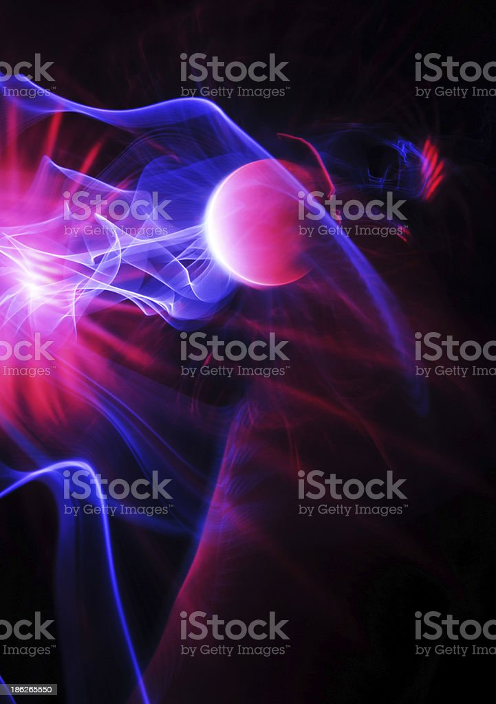 Energy ball stock photo