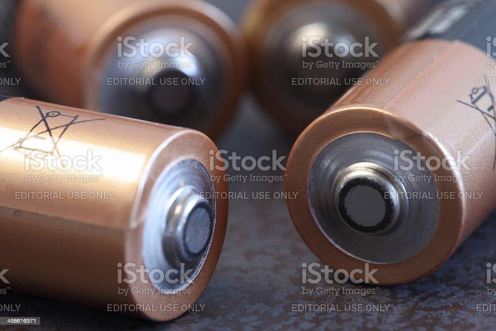 Energy batteries stock photo