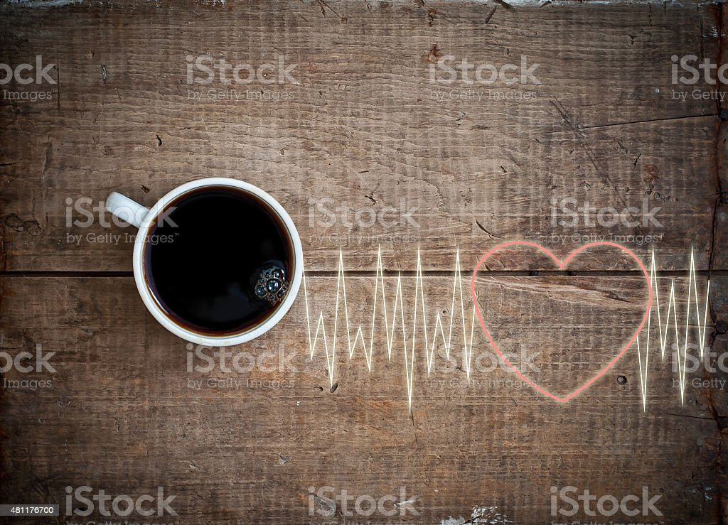 energy cheerfulness with coffee stock photo