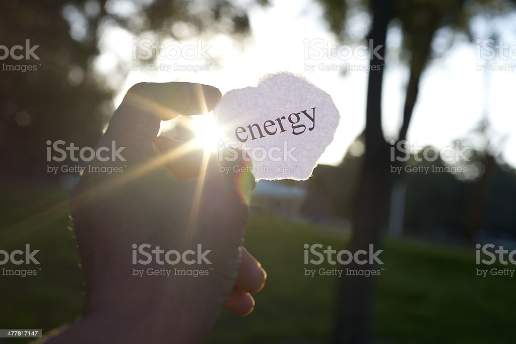 Energy concept. Holding power in your hand royalty-free stock photo