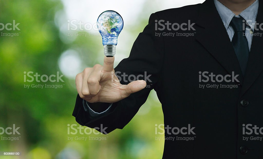 Energy conservation concept, Elements of this image furnished by NASA stock photo