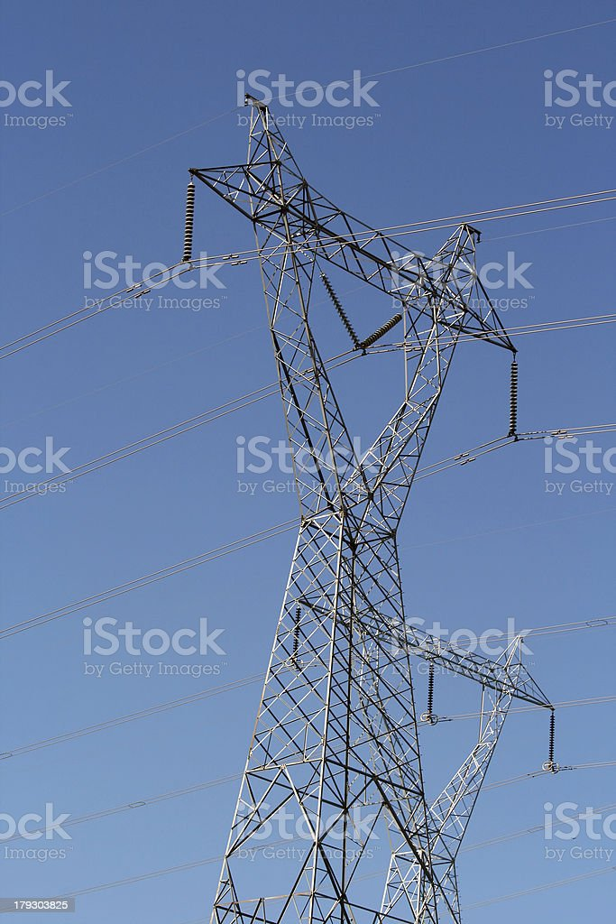 Energy distribution tower royalty-free stock photo