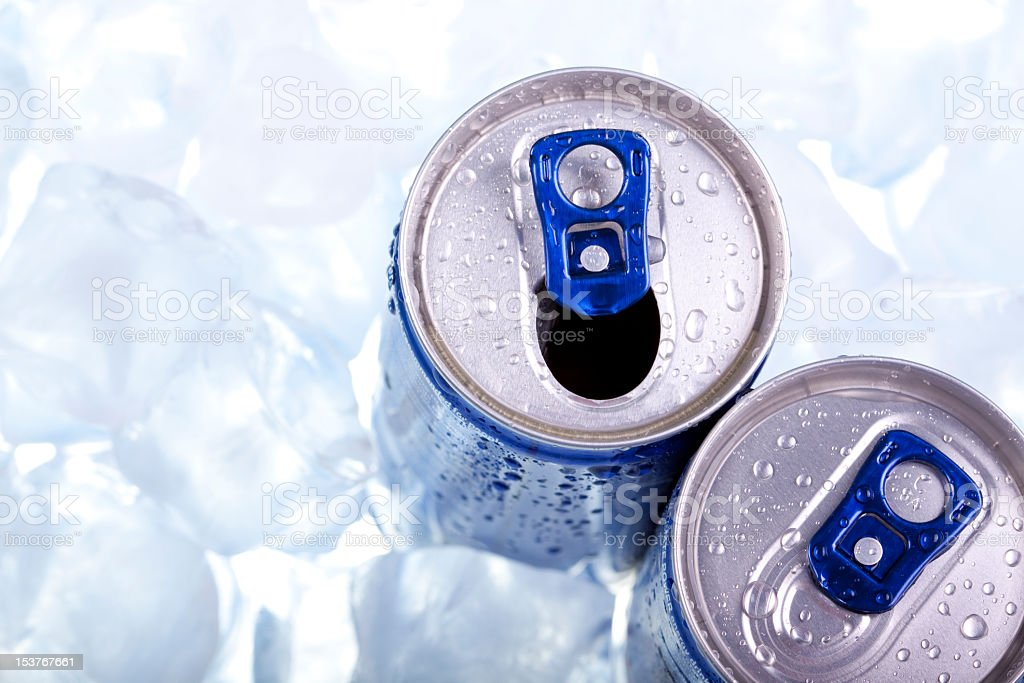 Energy drink from the top stock photo