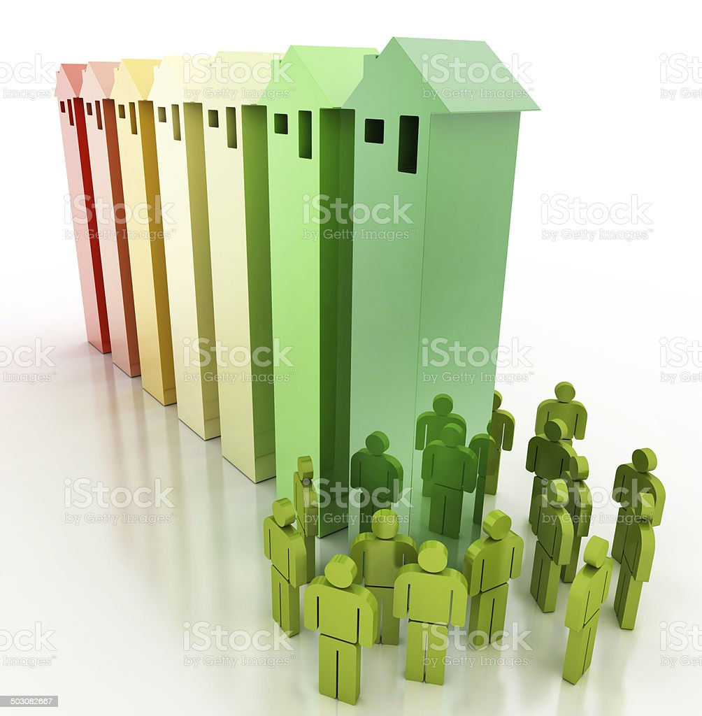 Energy Efficiency and people stock photo