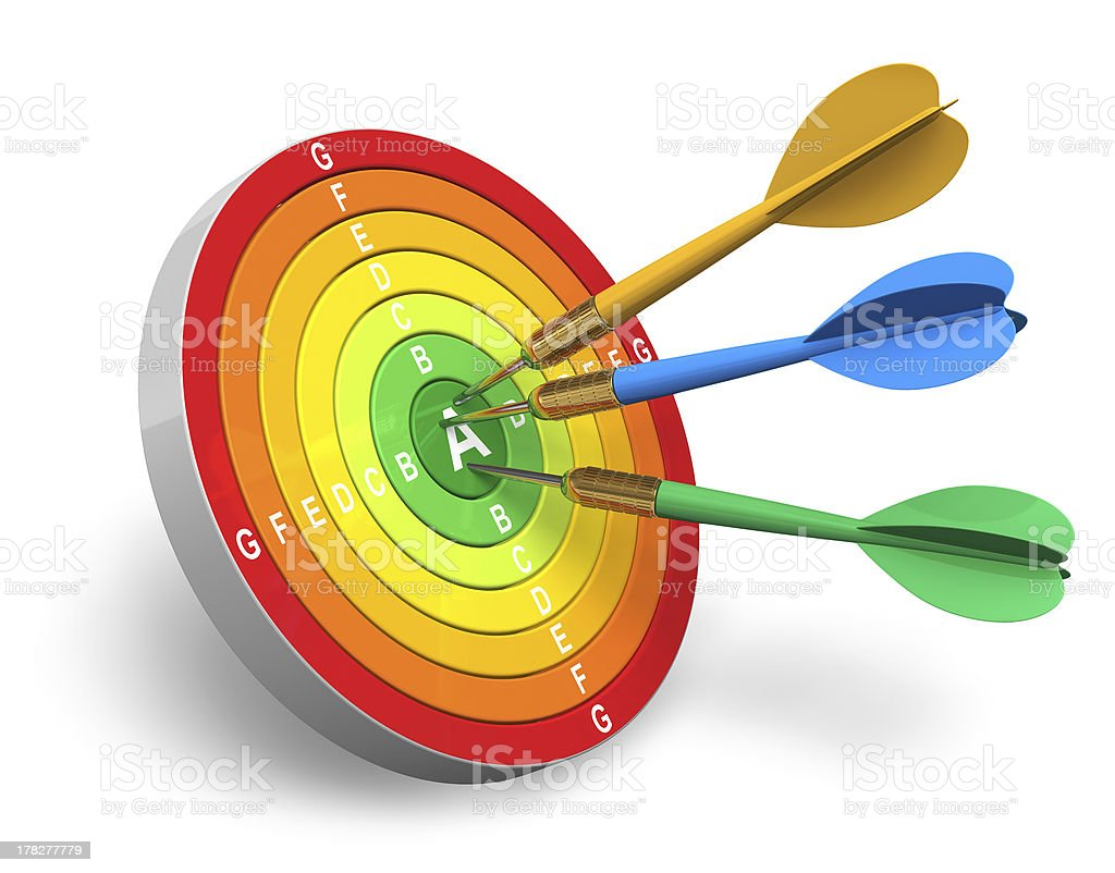 Energy efficiency and power saving concept stock photo