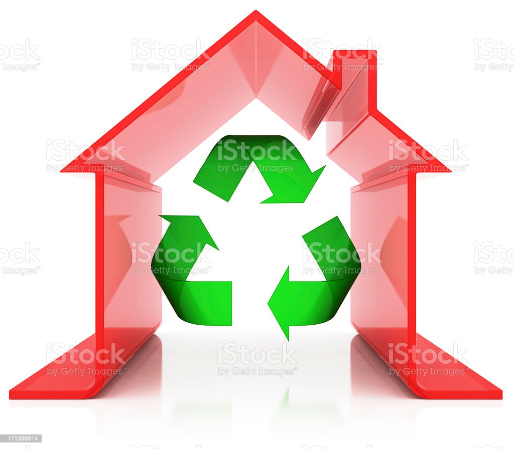 Energy Efficiency and Recycling royalty-free stock photo