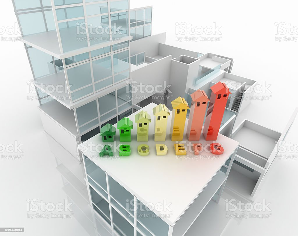 Energy Efficiency building project royalty-free stock photo