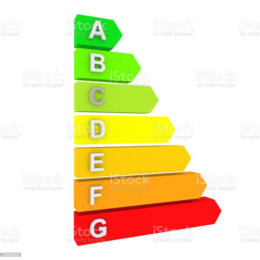energy efficiency chart2 stock photo