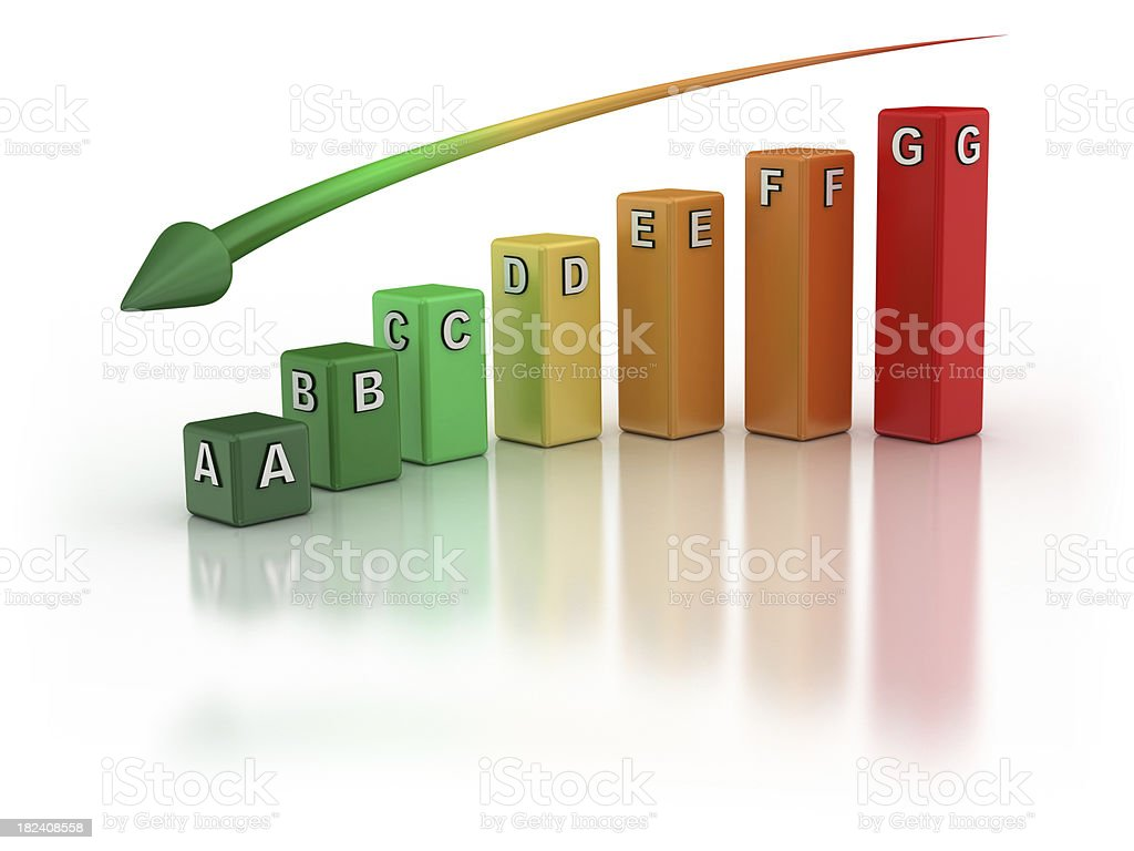 Energy Efficiency - Graph stock photo