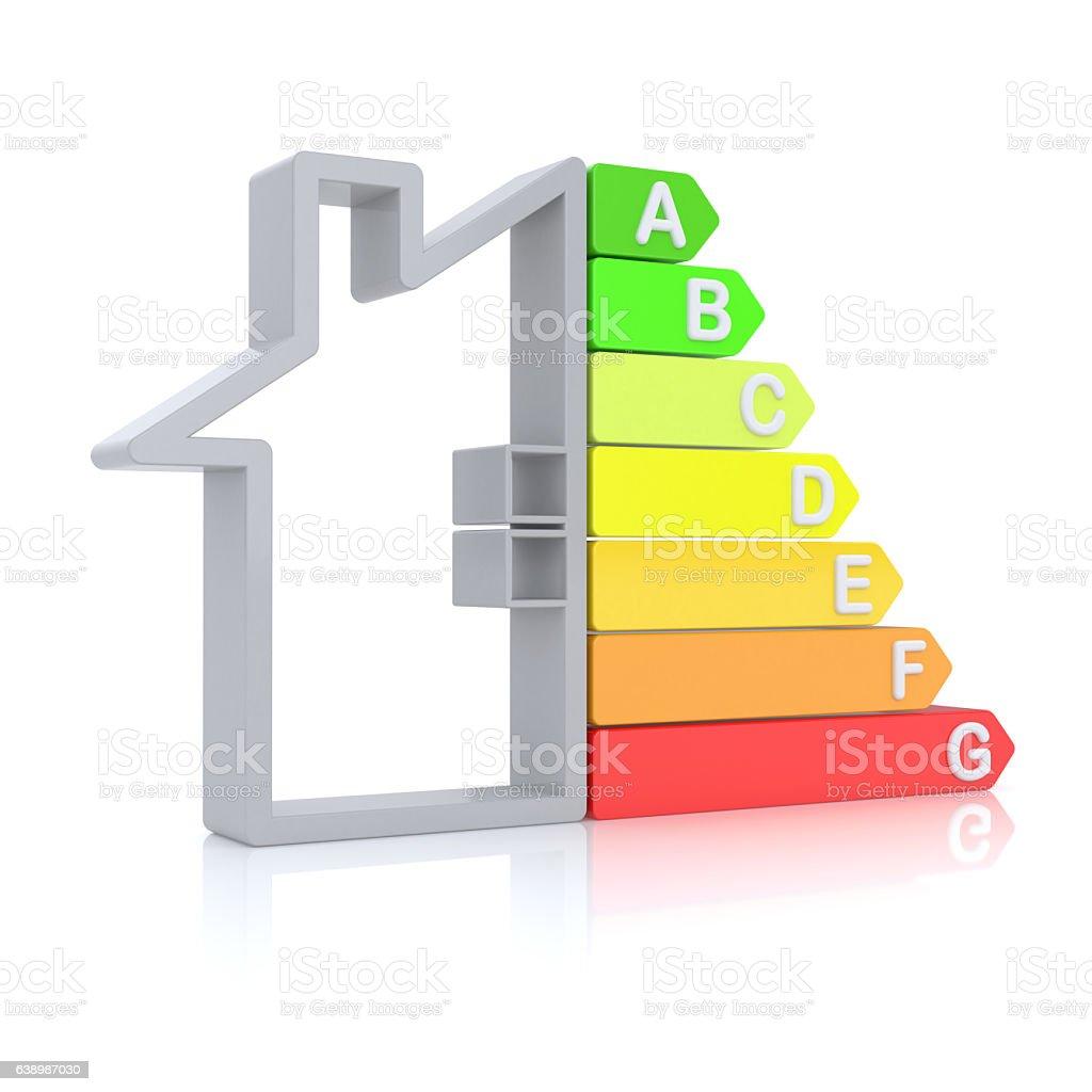 Energy Efficiency Graph stock photo