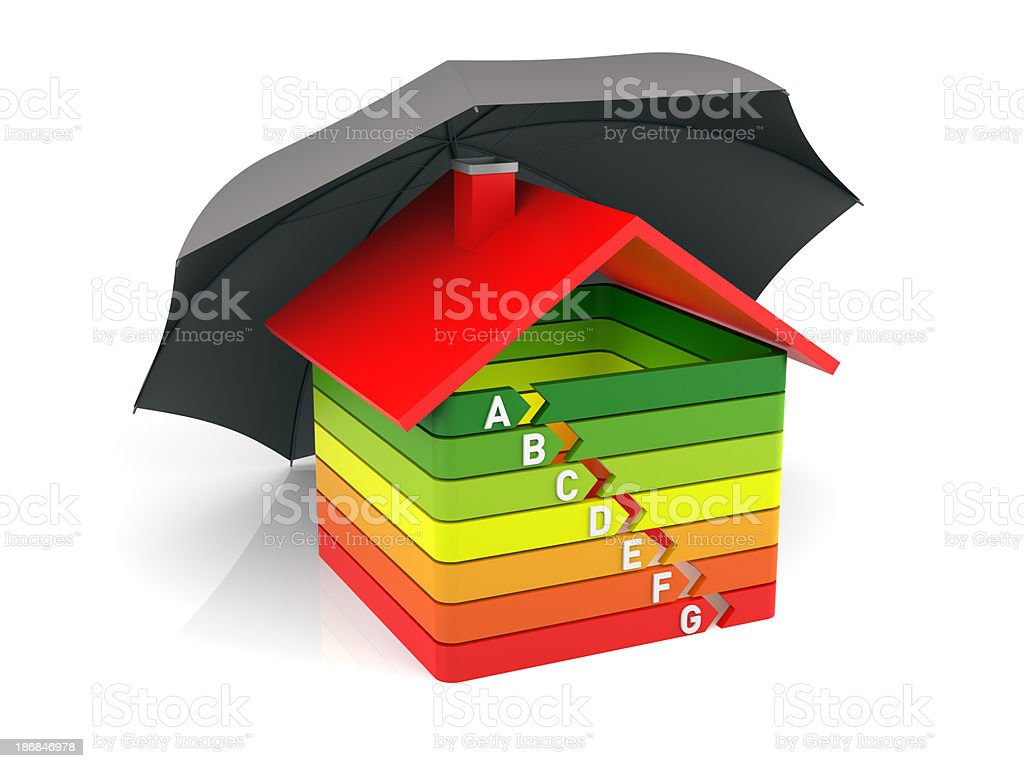 Energy Efficiency House royalty-free stock photo