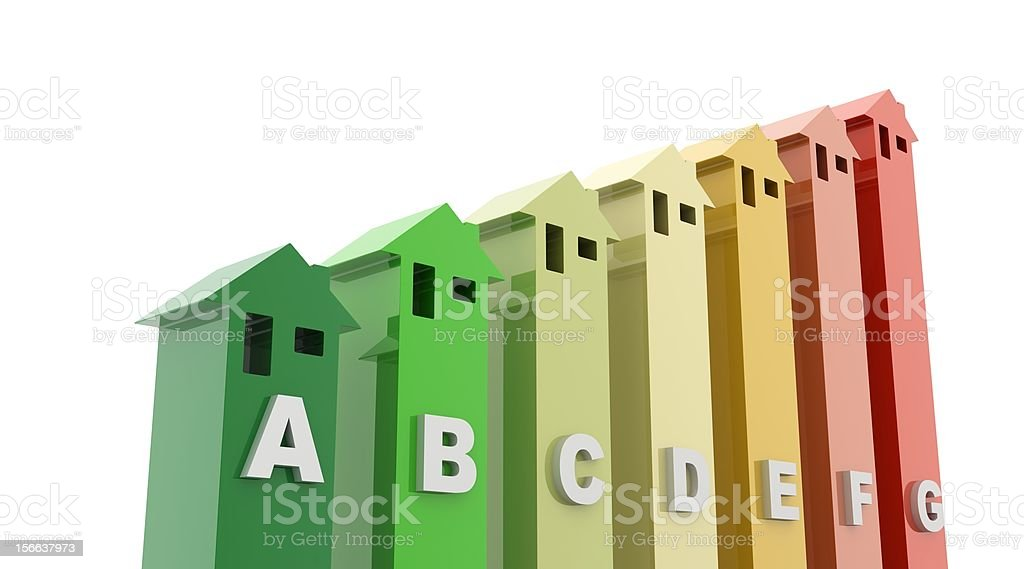 Energy Efficiency in the Home (isolated on-white) stock photo