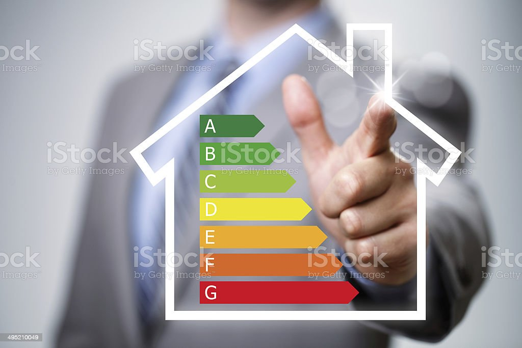 Energy efficiency in the home stock photo
