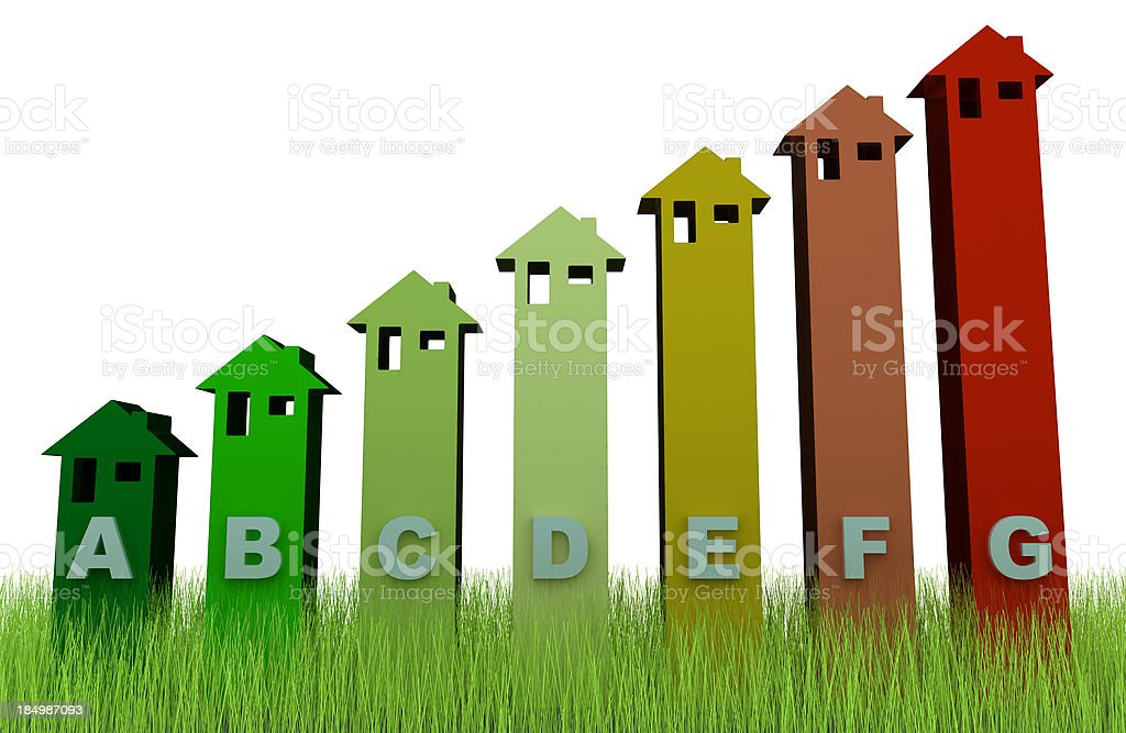 Energy Efficiency on grass royalty-free stock photo