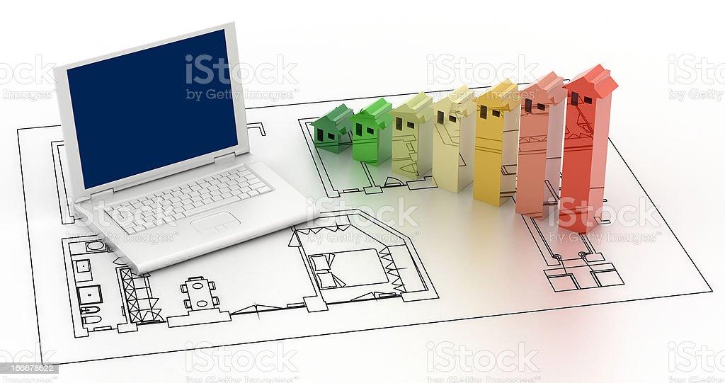 Energy Efficiency project stock photo