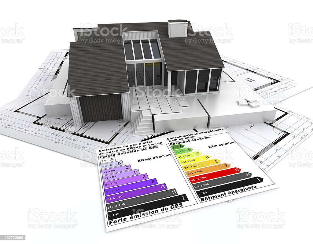 energy efficient architecture royalty-free stock photo