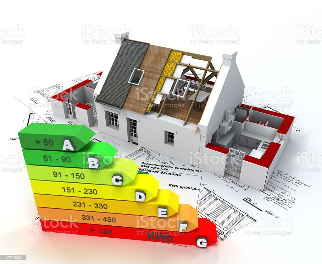 Energy efficient construction stock photo