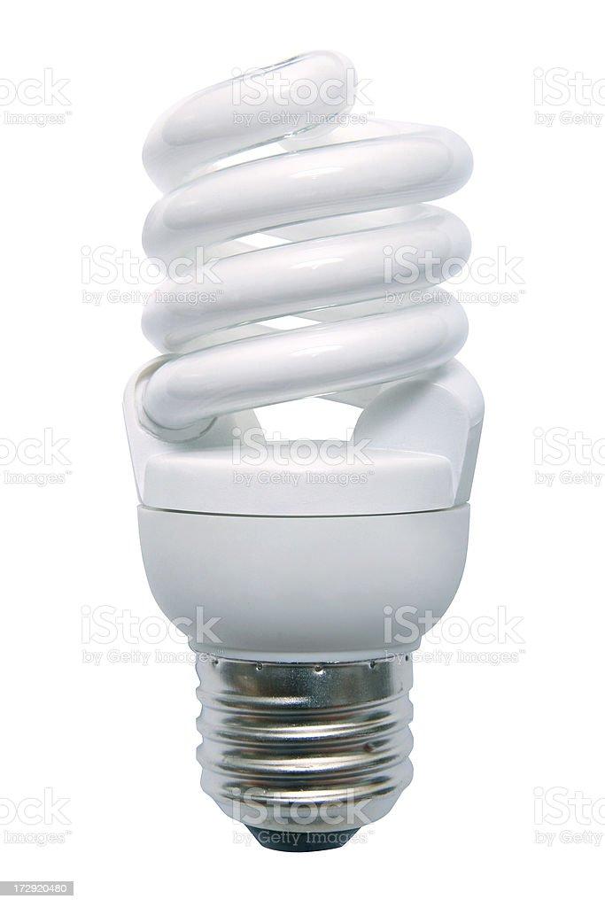 Energy Efficient Fluorescent Light Bulb stock photo