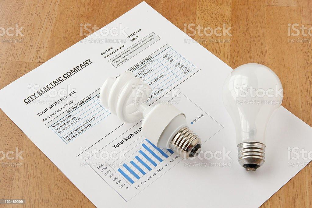 Energy efficient house. stock photo