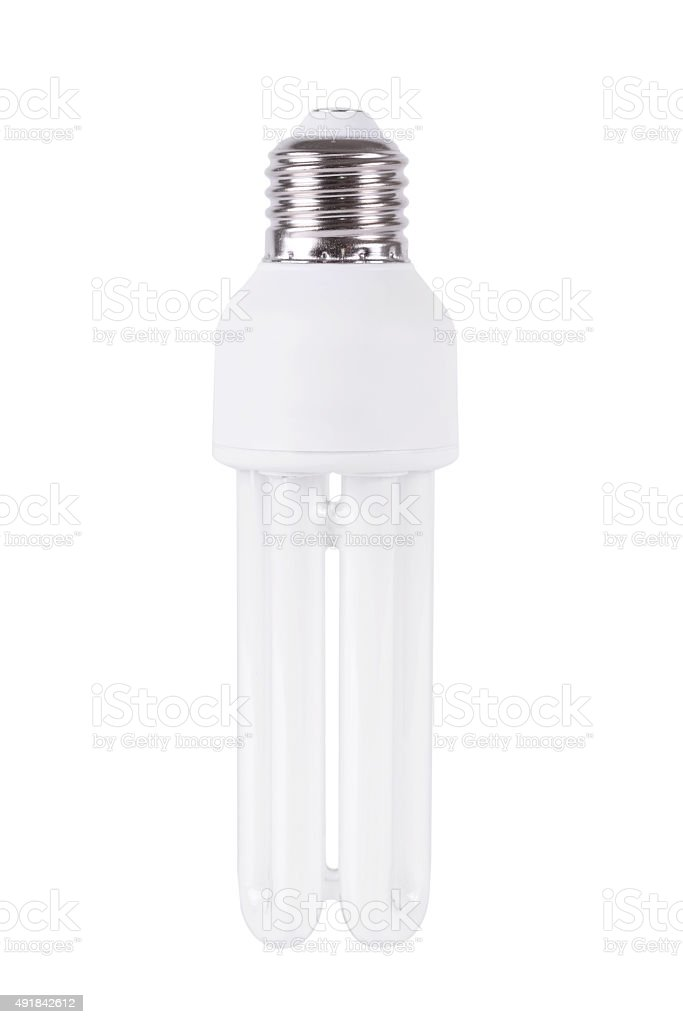 Energy efficient light bulb isolated on white stock photo