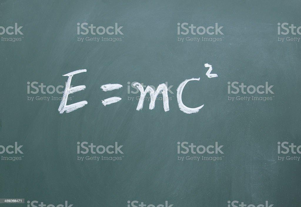 Energy equation royalty-free stock photo
