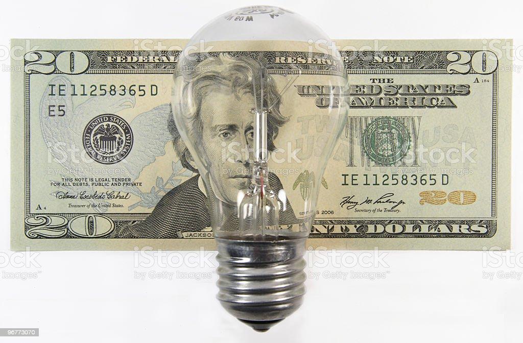 Energy expenses stock photo