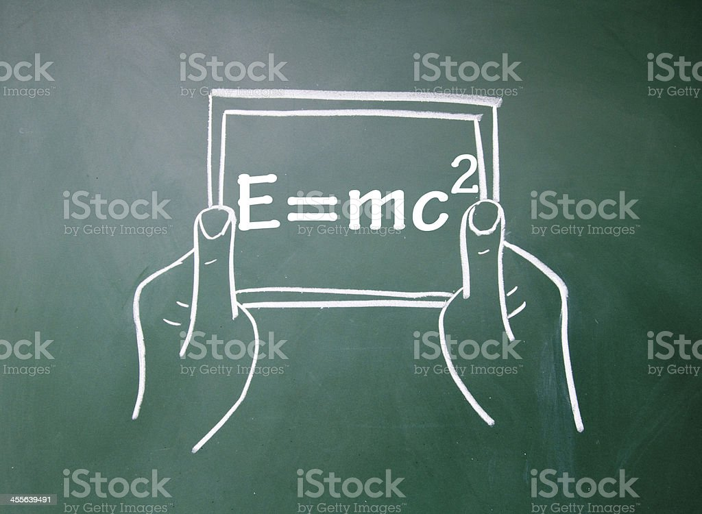 Energy formula and tablet pc royalty-free stock photo