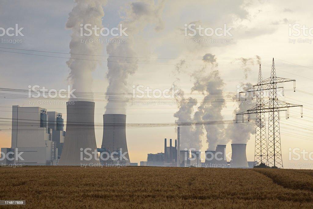 Energy Golden Dusk stock photo