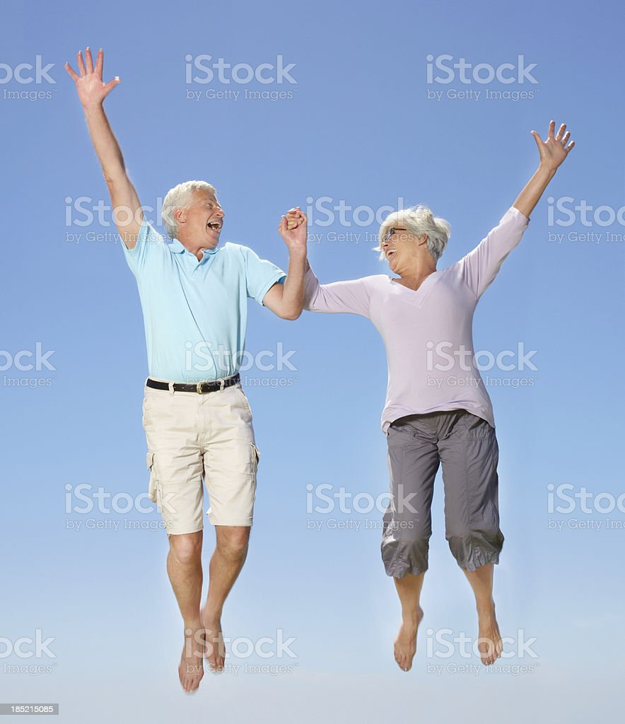 Energy has nothing to do with age royalty-free stock photo