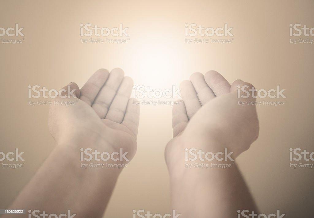 Energy Healing Hands royalty-free stock photo