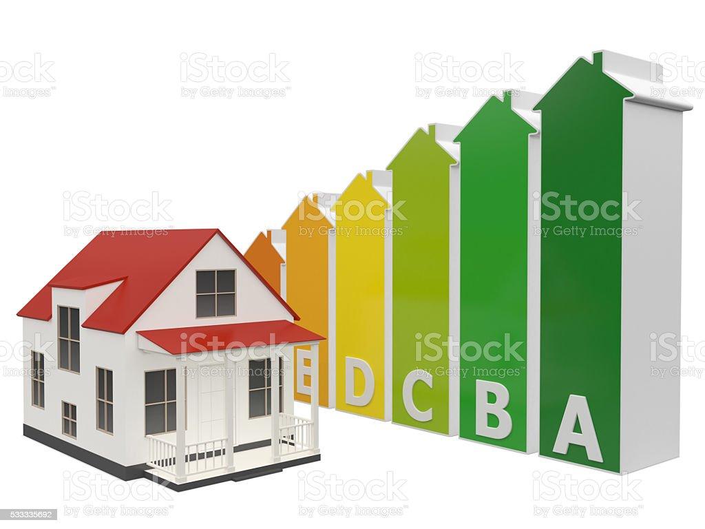 Energy House stock photo