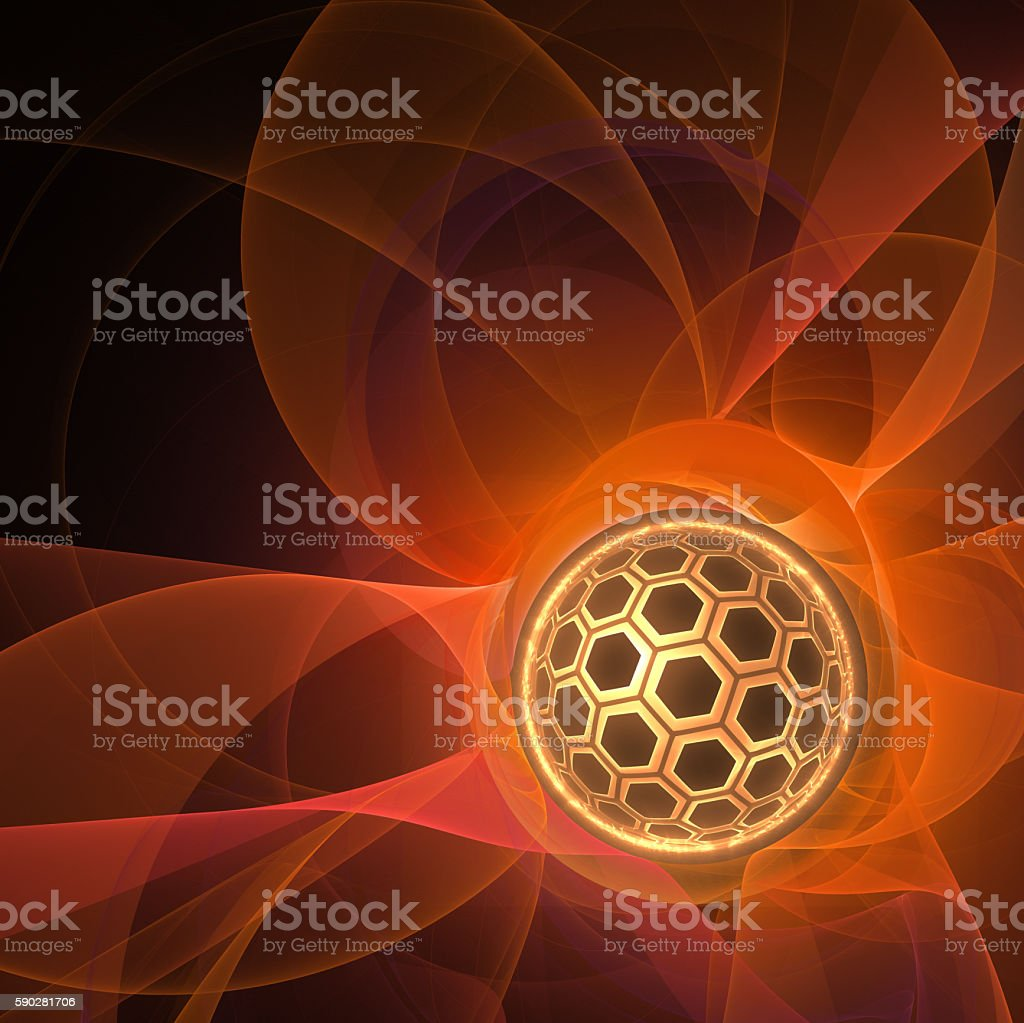 energy is core, abstract science background stock photo