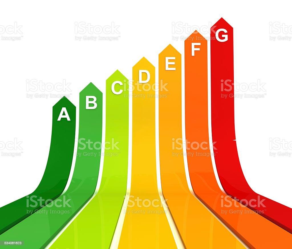 Energy Label Bar Chart stock photo