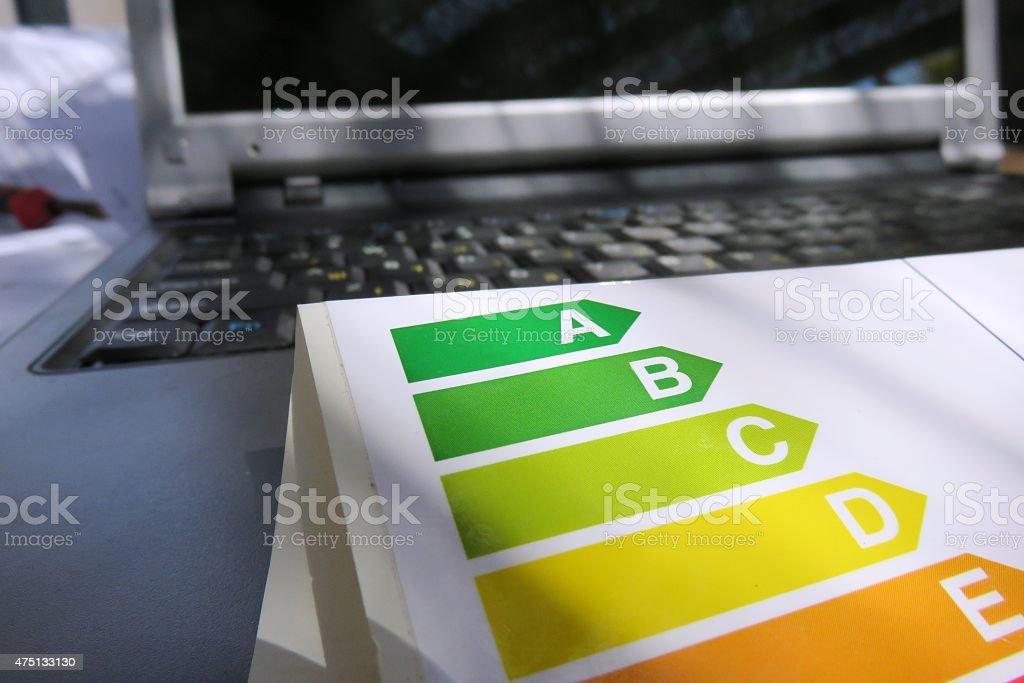 Energy Label, Computer stock photo