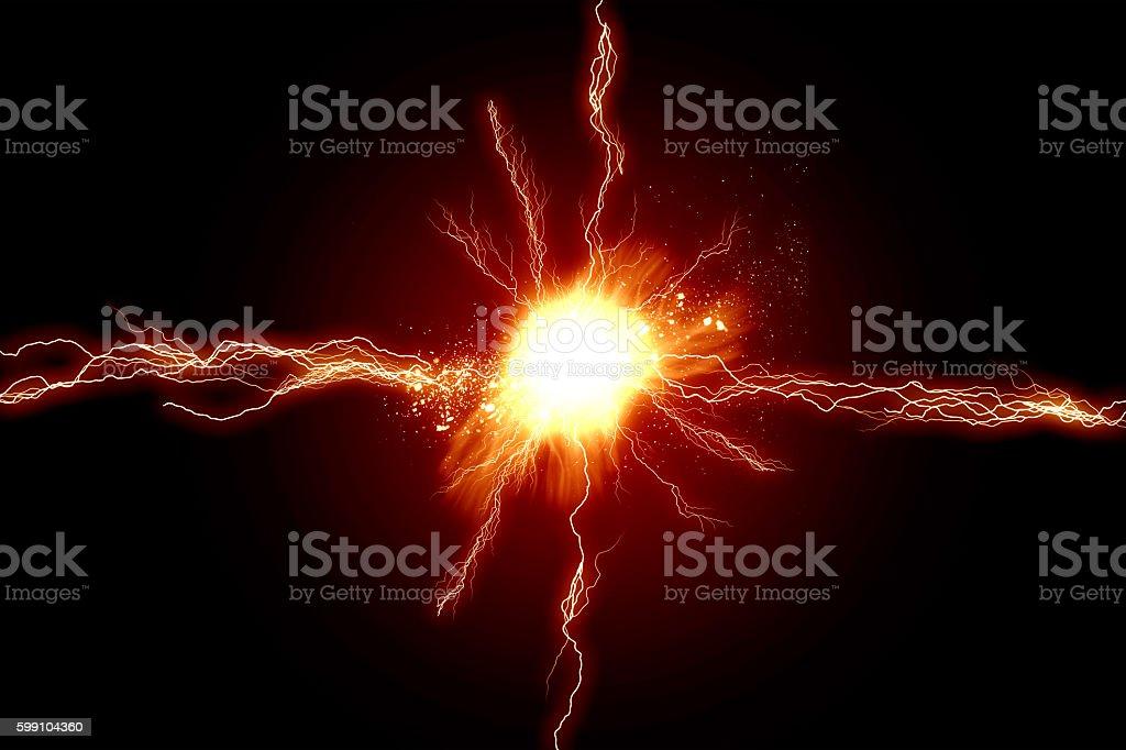 Energy lights stock photo