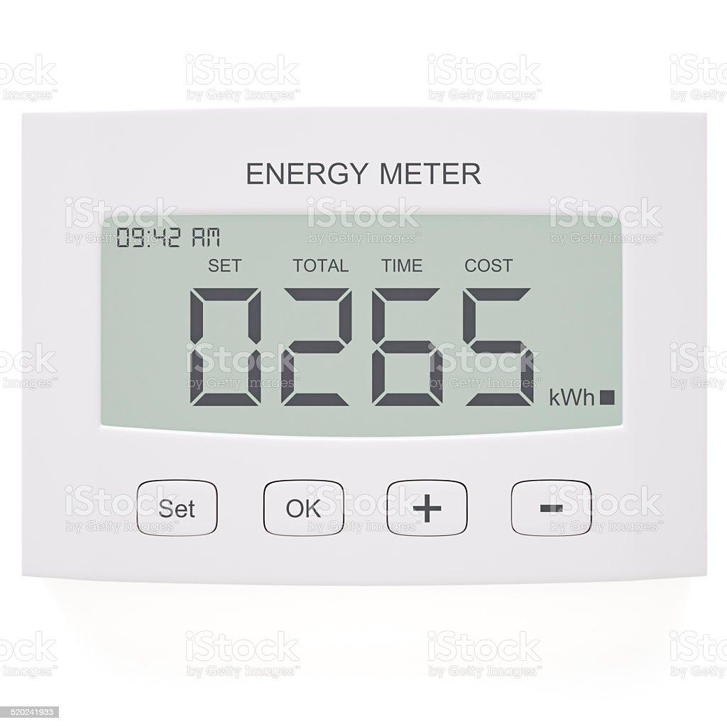 Energy Meter stock photo