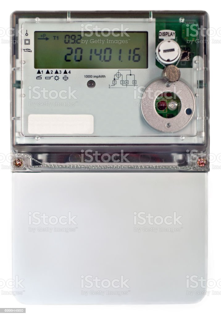 Energy meter stock photo